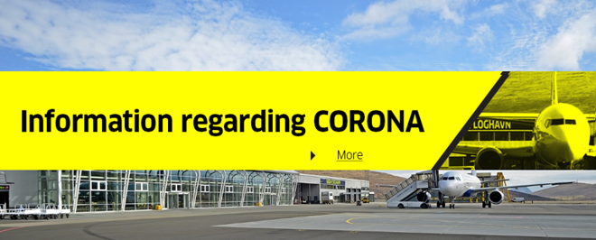 Information from Vagar Airport regarding Corona